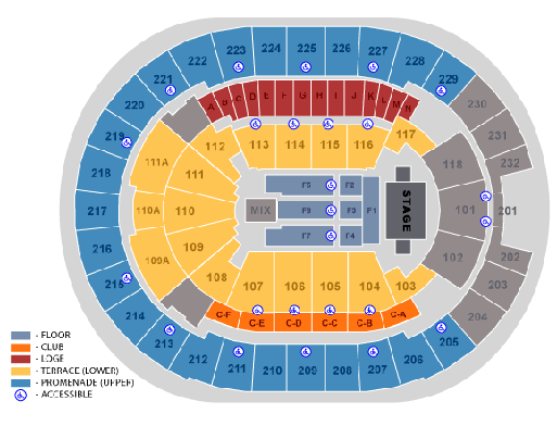 Amway Center :: Seating Maps